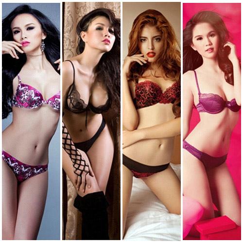 Top 10 chân dài gọi cảm khi mặc nội y showbiz Việt