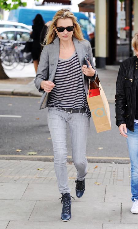 Kate Moss, 'nữ hoàng' đồ công sở Hollywood