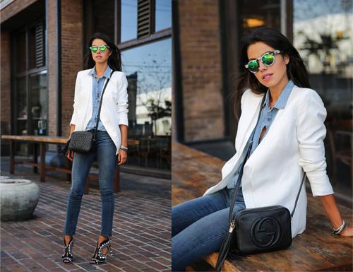 Bí kíp mặc jeans chuẩn mực tới công sở