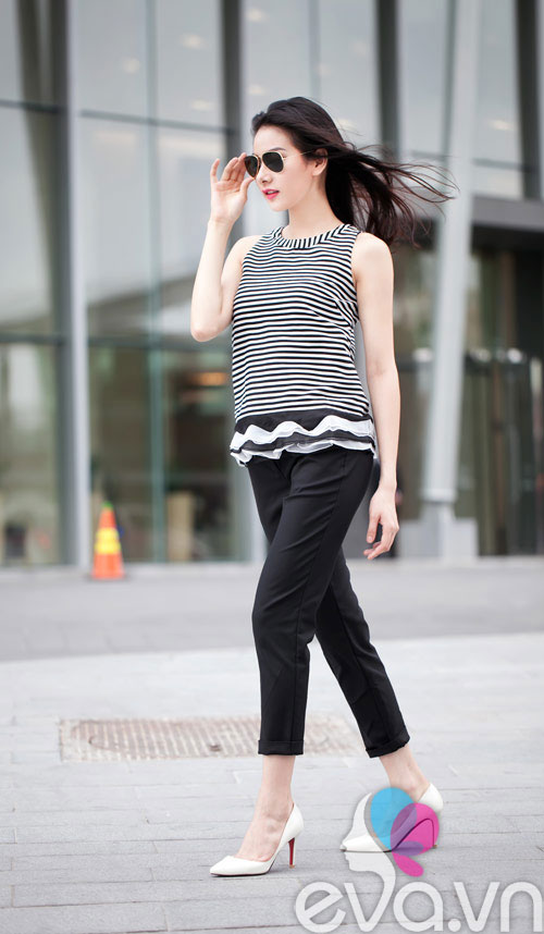Cách mặc trắng đen tuyệt đẹp cho nữ công sở