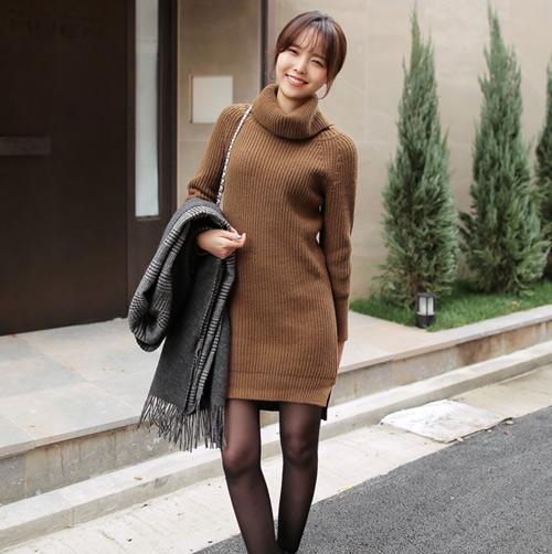Váy len gợi cảm, ấm áp và sang trọng cho nữ công sở