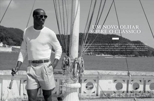 Chàng thanh lịch cùng trang phục trên tạp chí Playboy Brazil