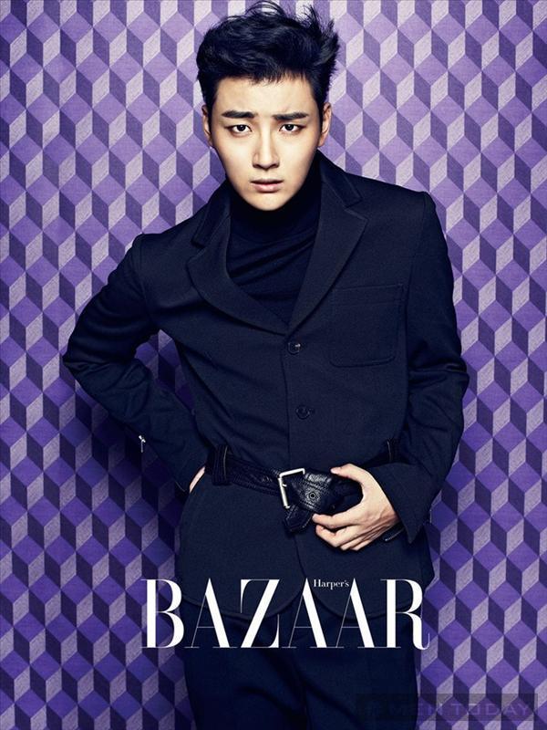 Lãng tử như Yoon Si Yoon trên Bazaar