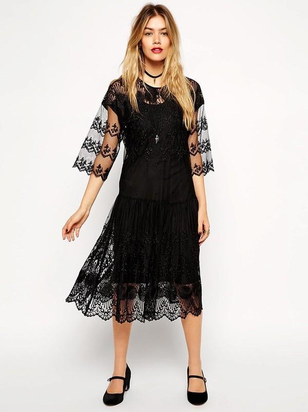 12 kiểu váy ren hot xuân hè cho quý cô sang trọng hiện đại