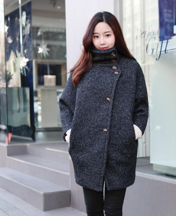 Áo khoác dạ nữ dáng suông cho nàng công sở thanh lịch