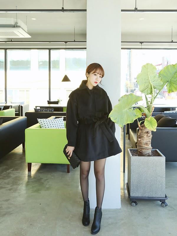 Áo khoác nữ dáng dài cho nàng xinh như sao Hàn