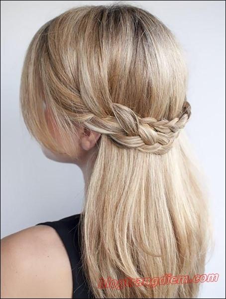 Cách tết tóc đơn giản cho cô nàng thêm đáng yêu đầy dịu dàng