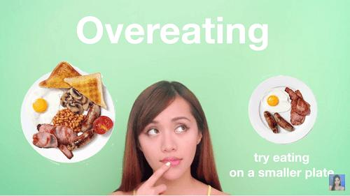 Đánh tan mỡ bụng bằng cách ăn uống