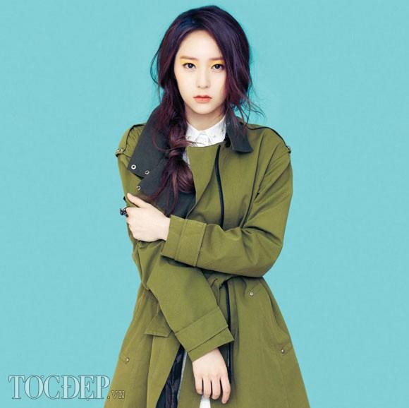 Kiểu tóc tết nữ lệch vai của sao Hàn