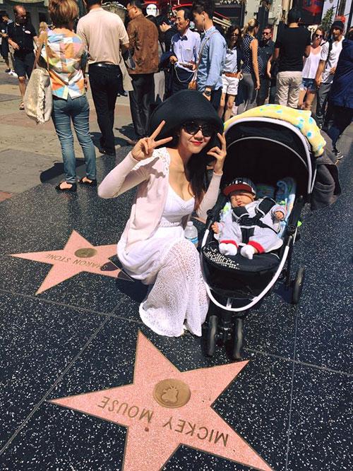 Ngọc Quyên và con trai đi Hollywood sau sinh nhật ngọt ngào