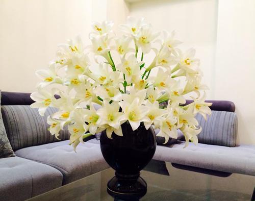 Những bình hoa đẹp của chị Hạnh ở Hà Nội
