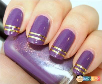 Những kiểu móng tay nail màu tím đẹp giành riêng cho cô dâu lãng mạn quyến rũ