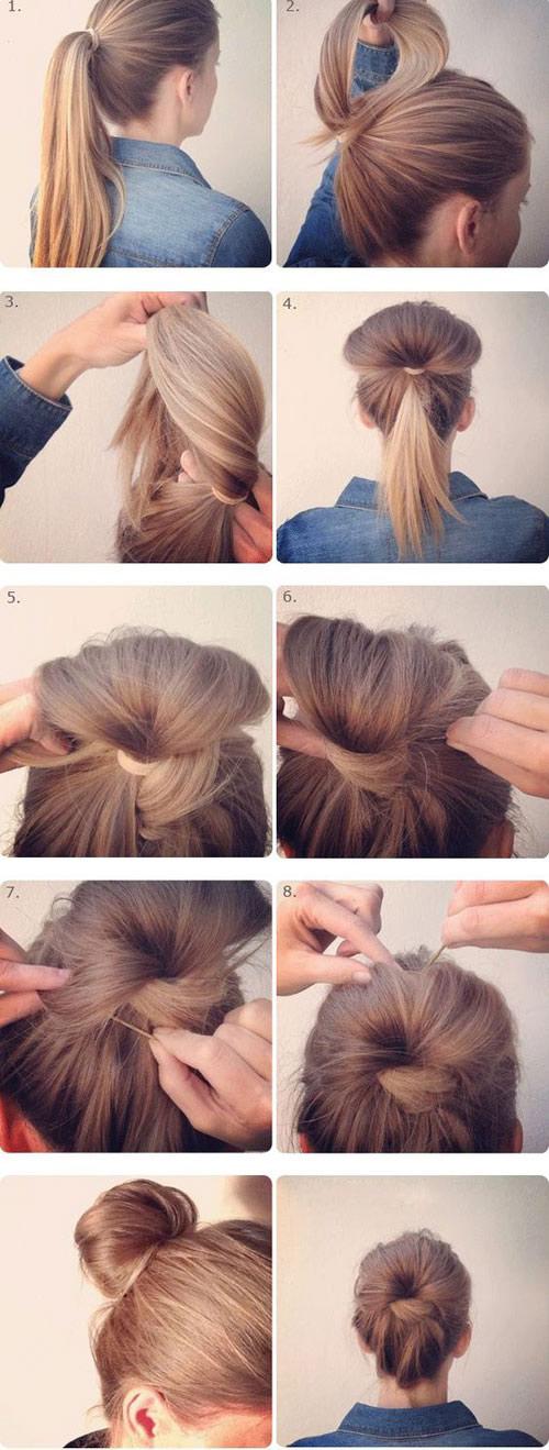 Những kiểu tóc búi quyến rũ siêu đơn giản