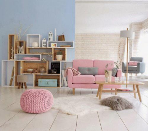 Tông màu giúp căn nhà có cảm giác bình yên cho gia đình