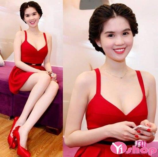 Váy đầm liền thân màu đỏ lộng lẫy cho nàng dự sự kiện