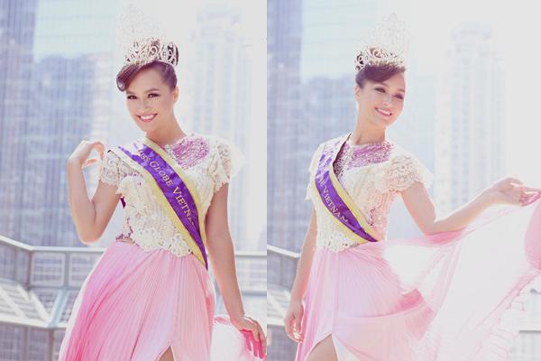 Vẻ đẹp của Hoa hậu Heritage Thúy Vy