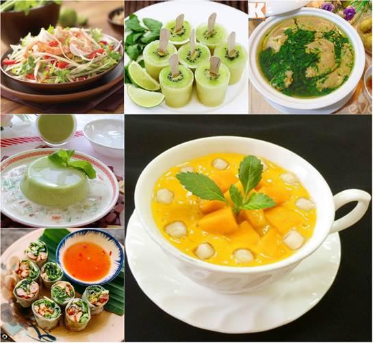 Hướng dẫn làm những món ăn giải nhiệt mùa hè