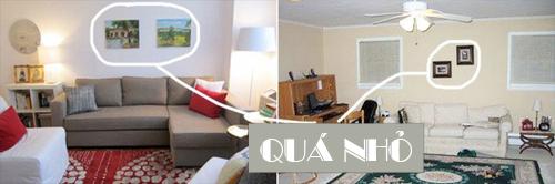 Những sai lầm hay gặp khi treo tranh, trải thảm trong nhà