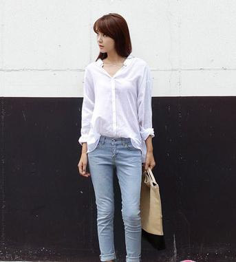 Sơ mi trắng cách điệu kiểu dáng Hàn Quốc cho nàng