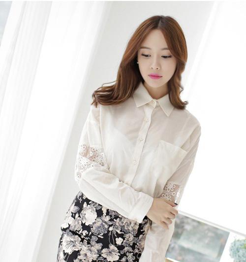 Sơ mi trắng Hàn Quốc 'đẹp mắt' cho nàng công sở