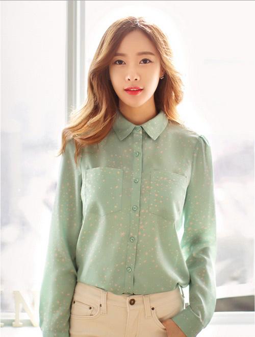 Trẻ trung hơn với áo sơ mi nữ Hàn Quốc cho nàng công sở