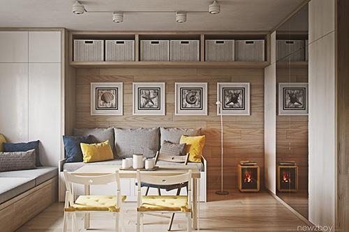 4 căn hộ có diện tích dưới 40 m2 nhưng vẫn đầy đủ tiện nghi
