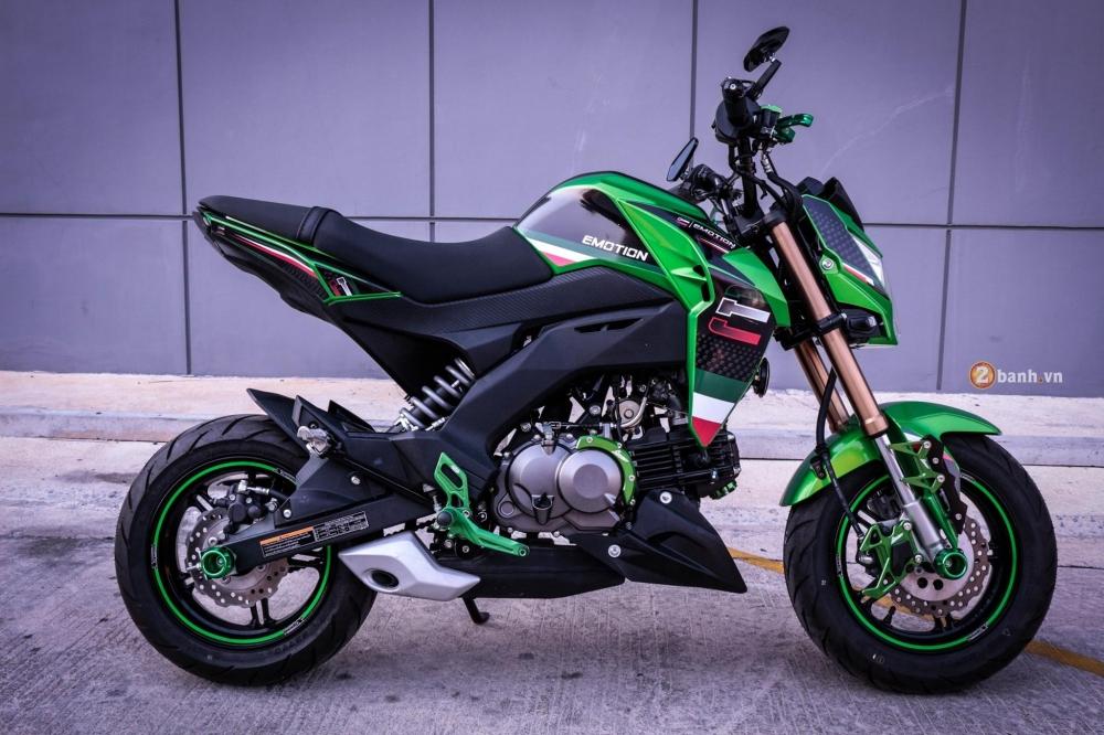 Kawasaki Z125 độ đầy phong cách với dàn option nổi bật