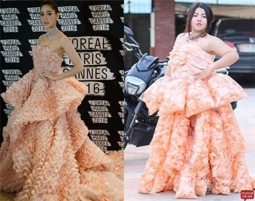 Nàng béo bỗng nổi tiếng vì cover loạt váy áo của các ngôi sao