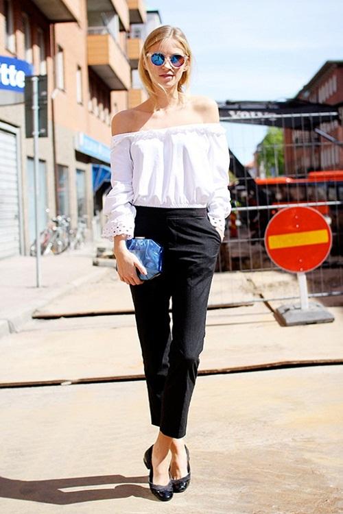 Nàng nghĩ gì về việc mặc áo trễ vai tới sở?