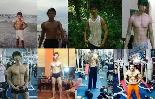 5 năm tập gym thành lực sĩ cao trên 1,8 m của chàng 'cò hương'