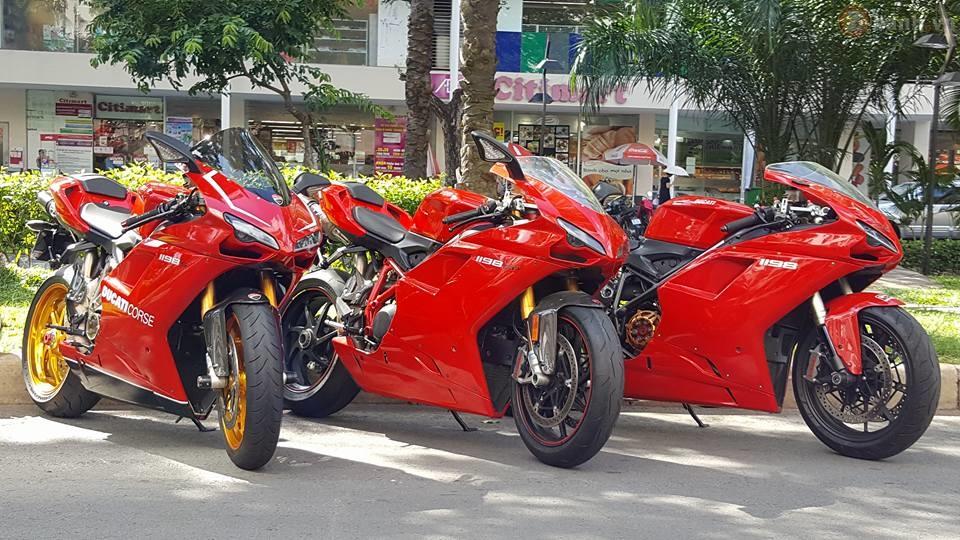 Bộ 3 phiên bản Ducati 1198 hội tụ tại Sài Thành