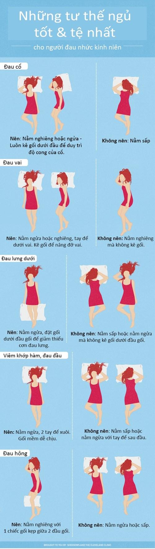 Những tư thế ngủ cho người hay bị nhức đầu