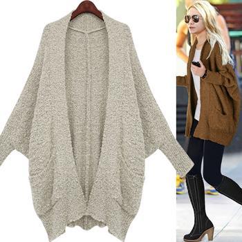 Áo khoác len nữ cánh dơi đẹp cho nàng cá tính dạo phố