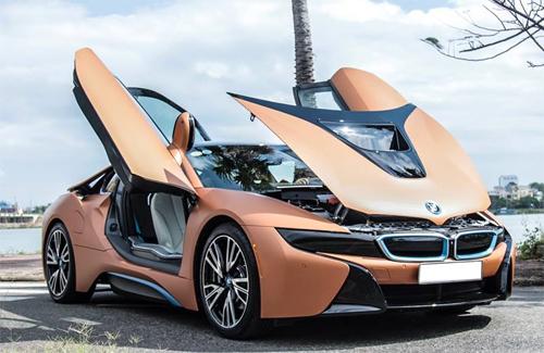 BMW i8 màu đồng lạ mắt của đại gia Đà Nẵng