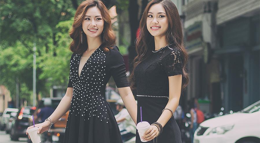 Chị em Á khôi Áo dài 2016 diện đồ đôi dạo phố Sài Thành