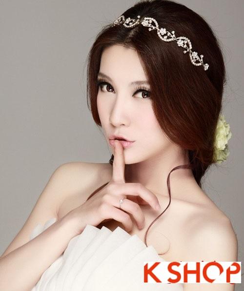 Kiểu tóc cô dâu đẹp mang phong cách Hàn Quốc