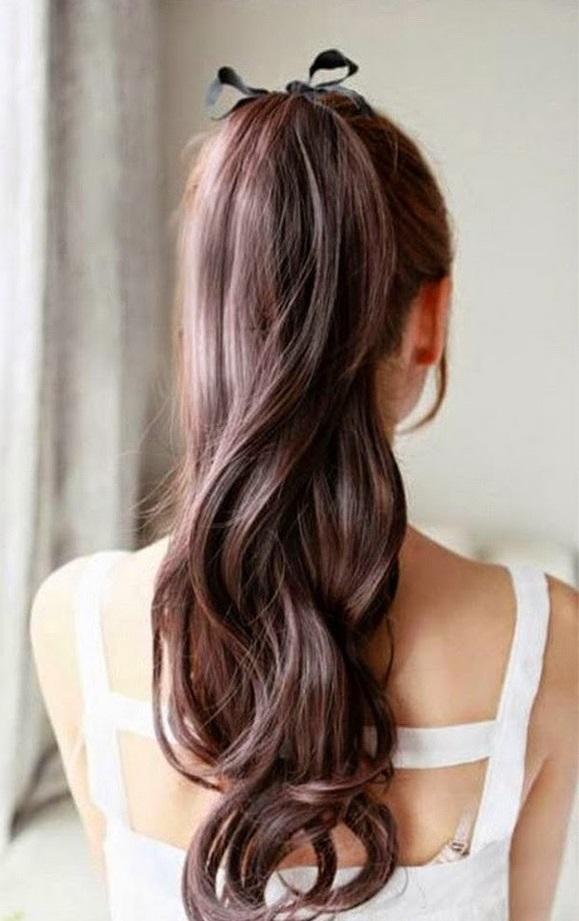 Kiểu tóc buộc gọn gàng xinh xắn cho bạn gái