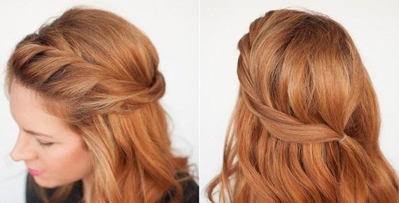 Cách tết tóc mái xoắn vặn dài đẹp 2017