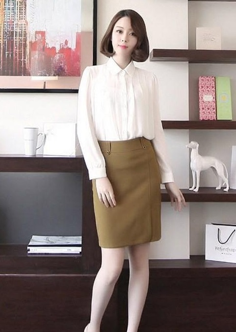 Chân váy đầm bút chì dáng dài đẹp trẻ trung cho nàng công sở