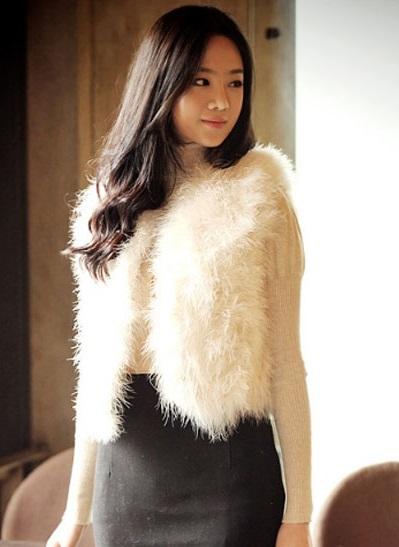 Áo khoác lông nữ đẹp sang trọng nơi công sở cho nàng