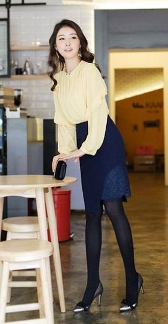 Chân váy đầm bút chì đẹp form cho bạn nữ