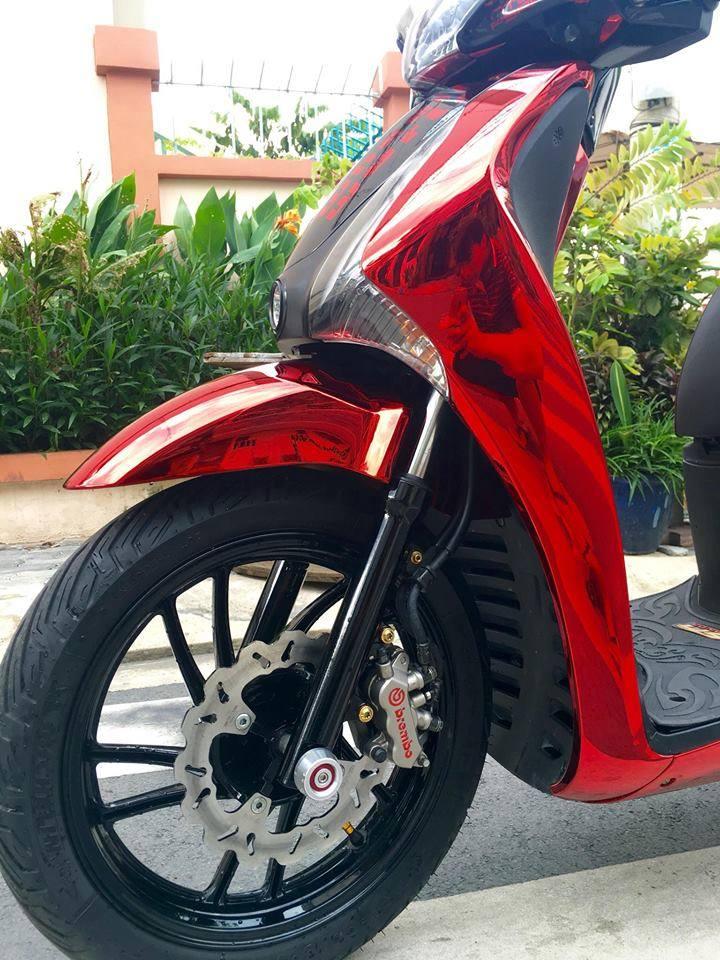 Honda SH đầy lộng lẫy với bộ cánh Red Chrome cực đẹp
