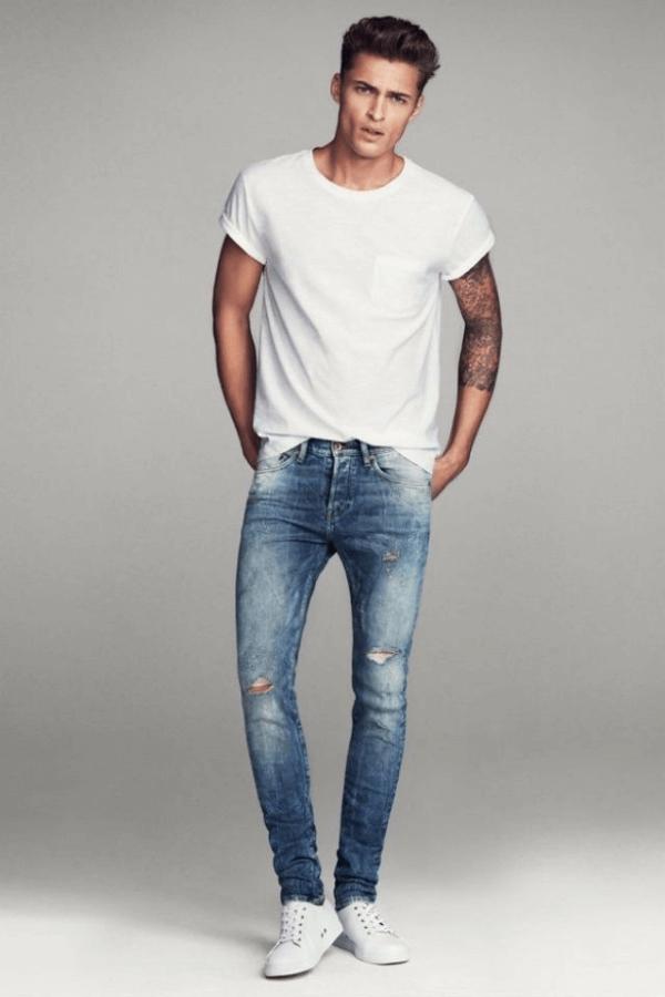 Bí quyết phối quần jeans nam đẹp phong cách