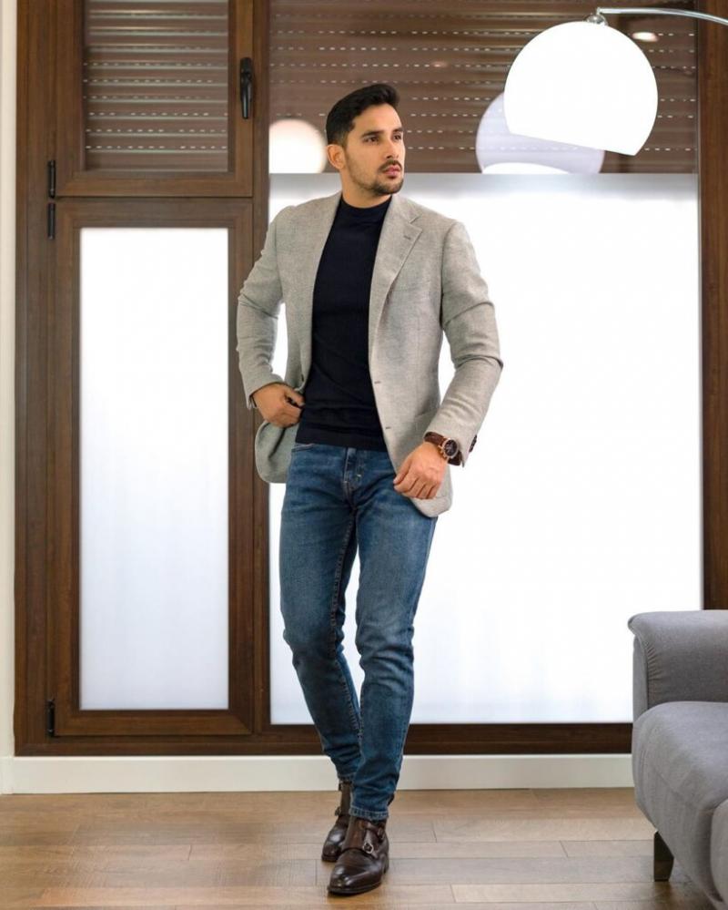 3 kiểu quần jeans phối với áo blazer đẹp nhất
