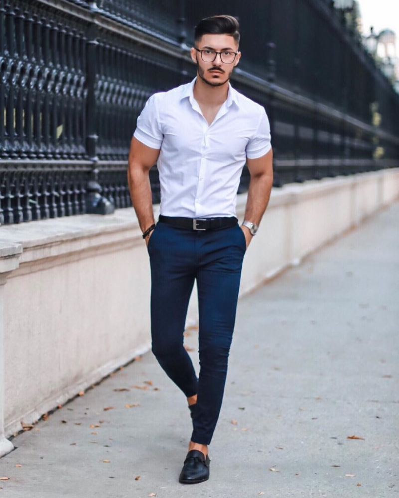 7 tips phối áo sơ mi với quần trouser giúp chàng đến công sở thoải mái