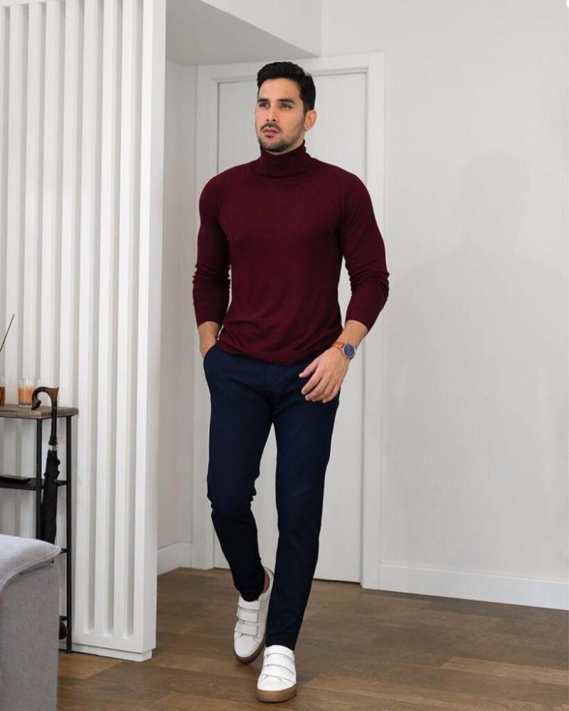 Cảm hứng phối quần trouser tối màu giúp chàng đến công sở