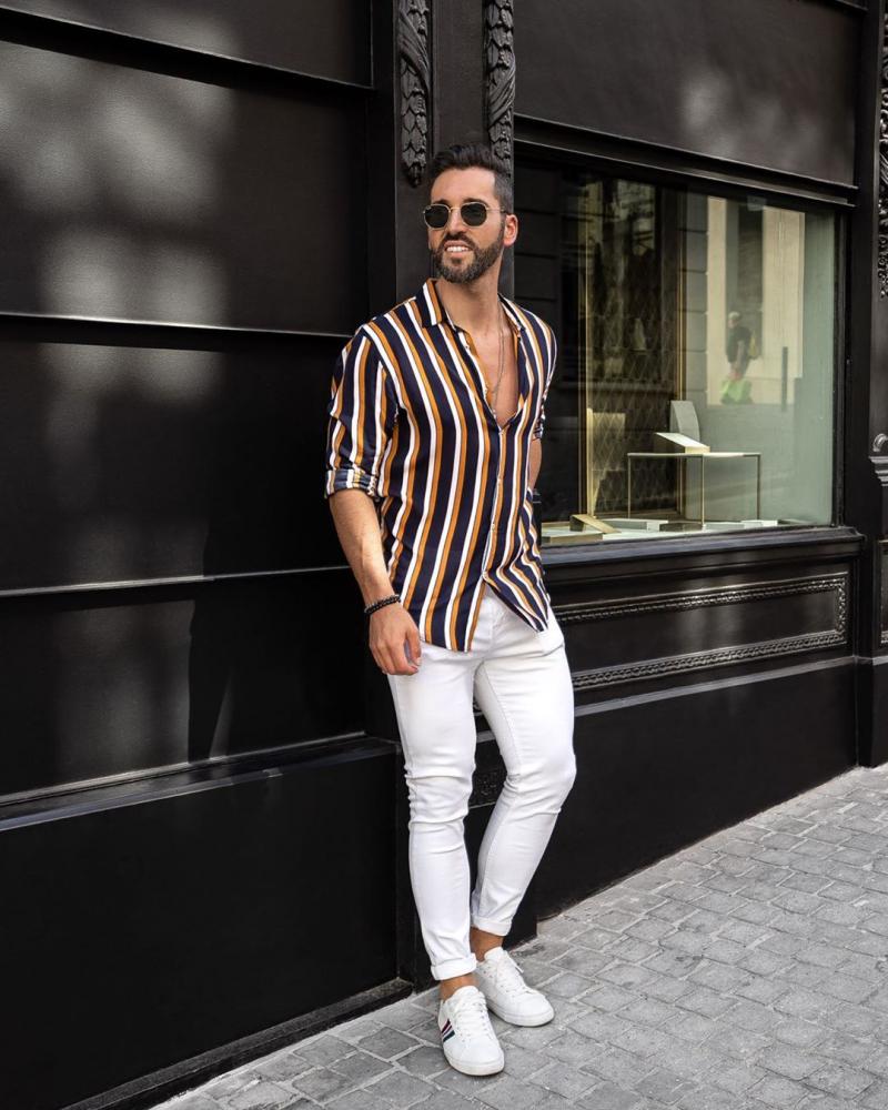 5 cách phối quần jeans trắng giúp chàng định hình style trẻ trung