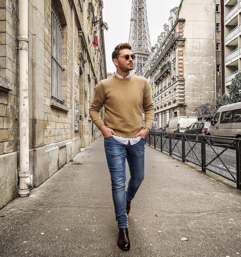"""Cảm hứng phối áo sweater và sơ mi chuẩn """"style layer"""" đầy ấm áp và tự tin"""