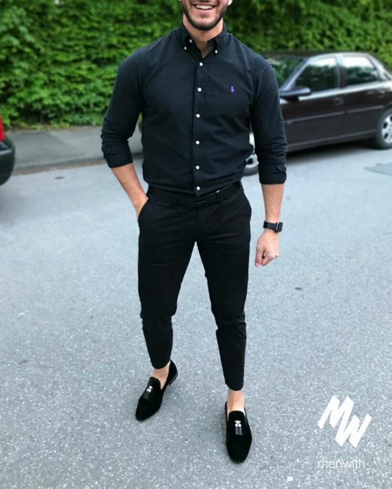 Sơ mi đen – mốt áo giúp chàng thanh lịch hơn dù diện xuống phố cá tính