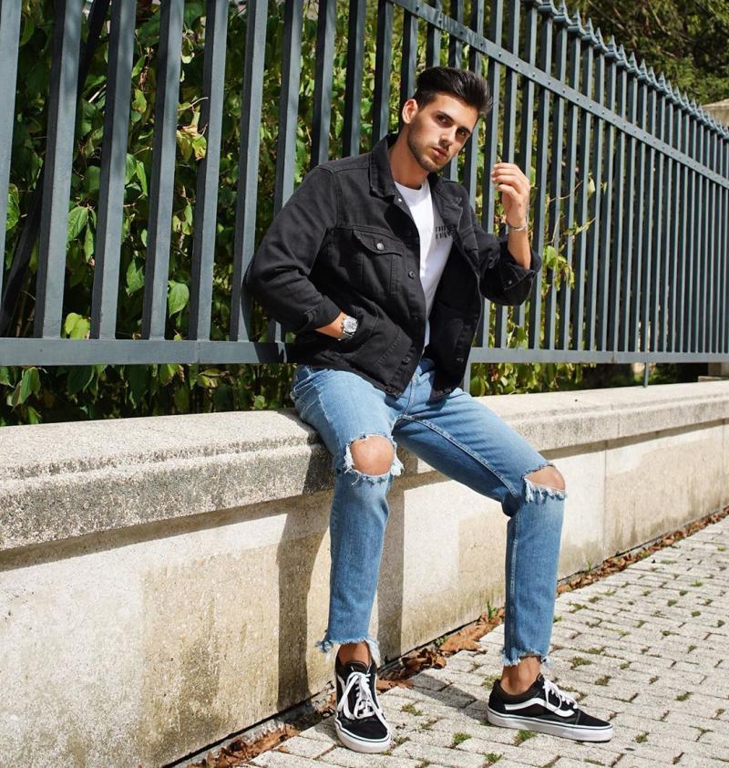 6 cách phối giày vans old skool giúp chàng xuống phố chất cực cá tính